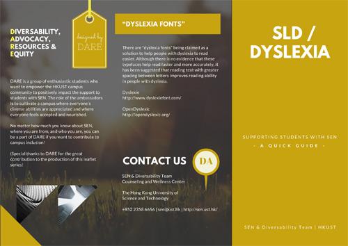SLD / Dyslexia Leaflet